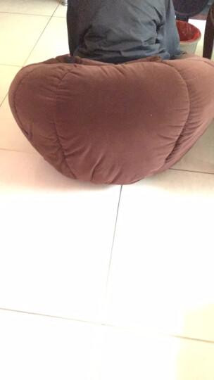 眯逸咪 时尚南瓜懒人沙发休闲单人布艺五指电脑椅创意小沙发凳可拆洗旋转 绒布葵花(单人+脚蹬+抱枕) 晒单图