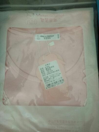 女童睡衣夏季新品纯棉短袖公主儿童睡裙亲子装母女家居服 8191长袖套装 肉粉色 130cm(建议身高123-132cm) 晒单图