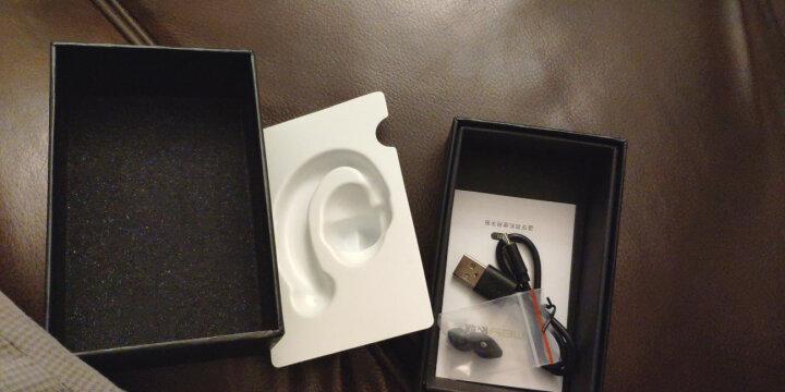 依魅 911可换电池蓝牙耳机运动商务无线迷你挂耳式 通用苹果小米华为vivo小米oppo 亮黑-当日达 HiFi音效 晒单图