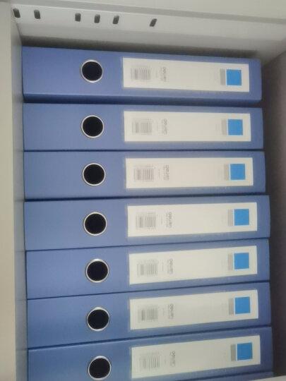 得力(deli)12只55mm文件盒磨砂纹路加厚PP 加厚A4财会档案盒 考试收纳  5606蓝色 晒单图