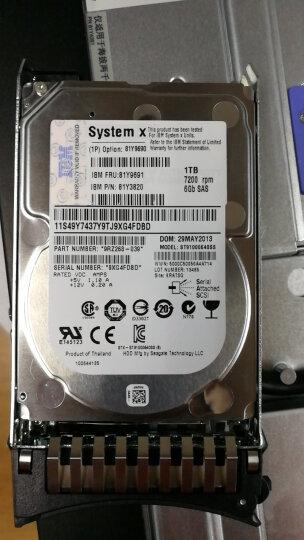 联想(Lenovo) IBM服务器硬盘 System X86 专用2.5英寸热插拔硬盘 1T 7.2K SAS 编号 81Y9691 晒单图