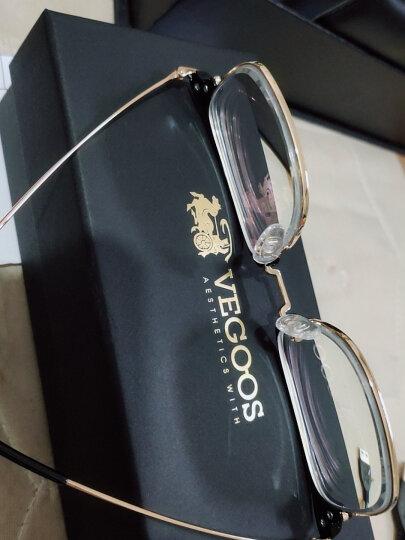 威古氏(VEGOOS)眼镜框男女近视 复古镜架韩版潮半框可配防蓝光 升级版5165 亮透明灰+玫瑰金色镜圈 1.601防蓝光镜片(225-400°) 晒单图