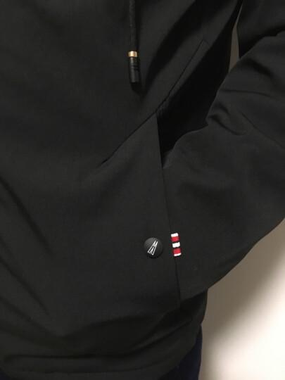 JEEP吉普夹克男2019秋季新款中长款青少年韩版修身加绒加厚连帽外套男棉士休闲夹克男上衣 黑色加绒 L 晒单图