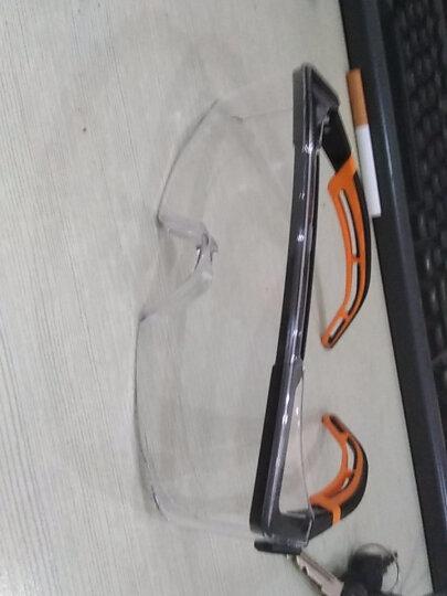 优唯斯(UVEX)护目镜透明防风沙骑行骑车摩托车打磨防飞溅劳保防尘防护眼镜男女 9064185炫酷黑-橙色 晒单图
