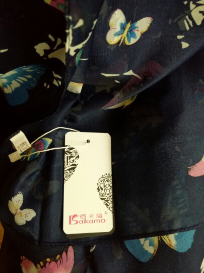 佰卡陌丝巾女士秋冬新款印花丝巾仿真丝围巾防晒丝巾 郁金香紫色 晒单图