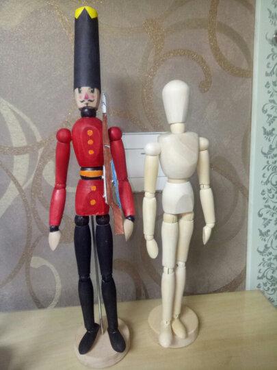 凡高 木头人模型  实木漫画木偶人  木头人关节可调动人偶 可调动木人偶 素描模特摆设 木头人 30cm 晒单图