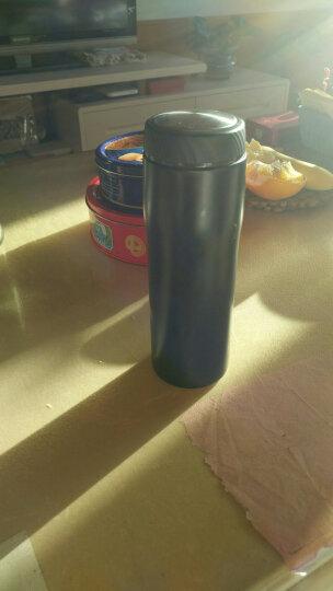 然也(RAE)480ml双层不锈钢保温杯壶泡茶汽车杯子 大容量男女士情侣学生商务车载办公水杯 黑色R3052 晒单图