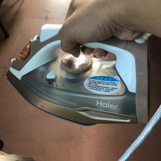 海尔(Haier)电熨斗 蒸汽挂烫机 2000W 陶瓷底板 垂直熨烫 家用手持迷你HY-Y2028G 晒单图