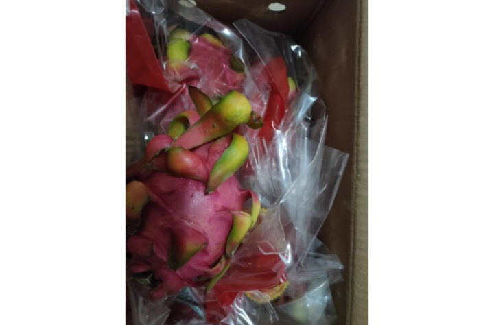 越南进口白心火龙果 4个装 白肉中果 单果375-500g 新鲜水果 健康轻食 晒单图