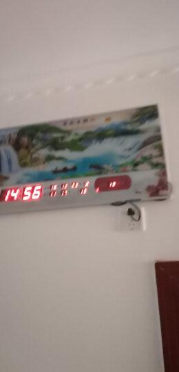 巴科达无框超薄LED数码万年历壁挂钟表客厅卧室办公时尚夜光静音挂钟创意日历闹钟电子报时钟表 流水生财 31英寸(长79cm宽42cm) 晒单图