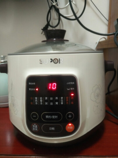 苏泊尔(SUPOR)电炖锅 电炖盅 煲汤锅 陶瓷燕窝炖盅 双炖锅5L一锅四胆DZ22YC806-40 晒单图
