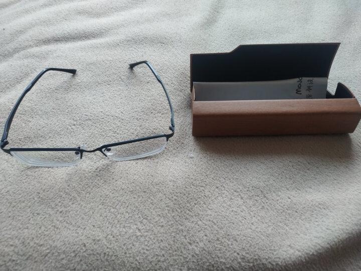 目匠 防辐射近视眼镜男女款 超轻眼镜框架防蓝光护目镜 5169 经典黑+送1.56非球面镜片(0-400度) 晒单图