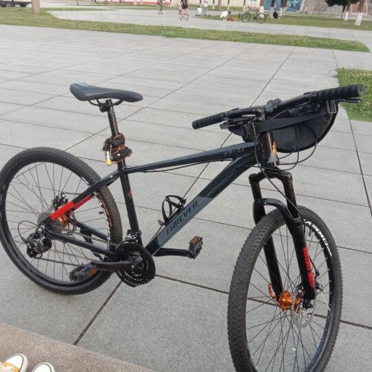 永久27变速山地自行车27.5寸铝合金公路车男女学生可戴头盔成人单车双碟刹减震越野A9乐途 白蓝色 推荐款 晒单图