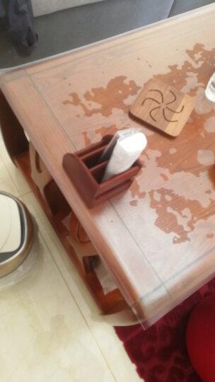 原森太实木桌面遥控器收纳盒木质办公桌面整理储物盒创意化妆品饰品收纳架小号大号 榉木半圆原古色小号 晒单图