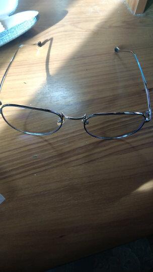 费启鸣男女同款防辐射防蓝光眼镜框手机电脑护目镜网红素颜女大框平光眼镜架潮 可配近视眼镜 银框黑圈 晒单图