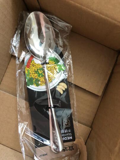 宜洁 勺不锈钢中号餐勺调羹西餐勺中勺6只装JD-7102 晒单图