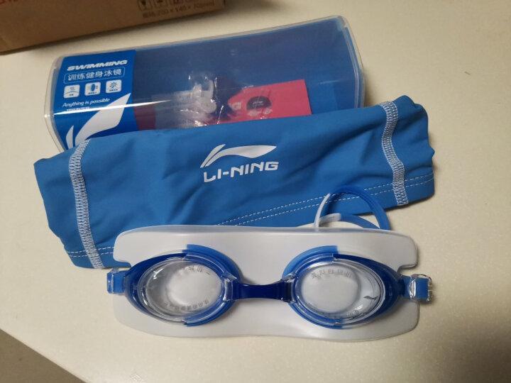 李宁 LI-NING 青少年泳镜泳帽套装 儿童游泳套装男女童游泳装备 308橙 晒单图