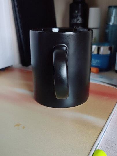 无泥(WUNI) 欧式磨砂黑色哑光马克杯带勺高档大容量陶瓷水杯子 创意简约咖啡厅咖啡杯配木盖 黑色哑光马克杯 晒单图