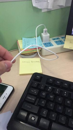 品胜(PISEN)苹果快充数据线 1米 Xs Max/XR/X/8Plus手机充电器线 适用于苹果8/7/6S/ipad air/pro 白色 晒单图