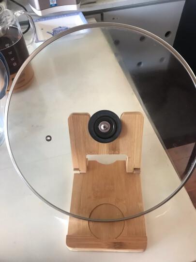 好管家 厨房小工具置物架竹木防烫锅盖座免打孔可折叠锅盖架带水槽 晒单图