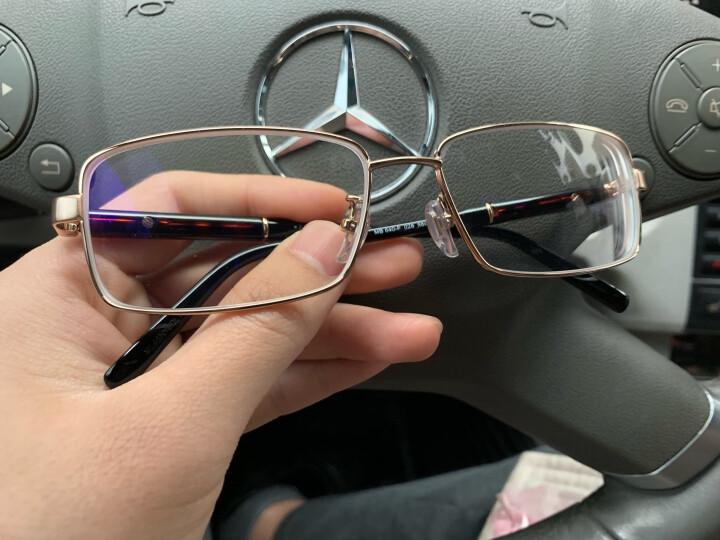 Montblanc 万宝龙 中性款金色镜框黑色镜腿光学眼镜架眼镜框MB 640-F 028 58MM 晒单图
