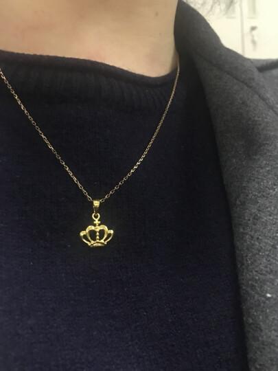 六福珠宝 网络专款足金加冕皇冠黄金吊坠不含项链 计价 GMGTBP0036 1.24克(含工费80元) 晒单图