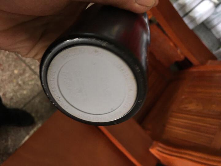 然也(RAE)260ml双层不锈钢保温杯壶泡茶汽车杯子 男女士情侣学生时尚商务车载办公随身水杯 黑色R3057 晒单图
