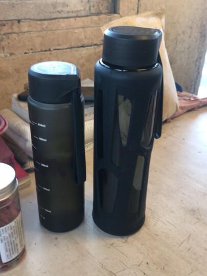 新加坡优道水杯运动水杯健身水杯男大容量便携Tritan环保材质防漏塑料杯户外旅行耀目黑 550ml 晒单图