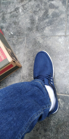 迈德森 男鞋 帆布鞋 2018夏秋季透气休闲板鞋男时尚潮流低帮布鞋男士大码单鞋 浅灰色 39 脚宽或脚胖,建议选大一码 晒单图
