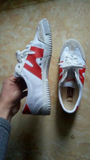 回力运动鞋男女帆布鞋经典低帮排球鞋全能专业运动训练鞋 H红白 38偏大一码 晒单图