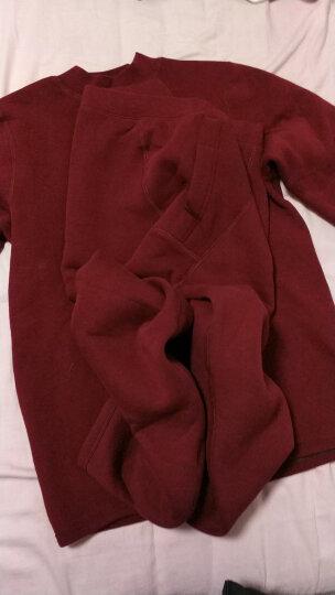 北极绒 男士保暖内衣 加厚加绒女 中老年人高领棉毛衫秋衣秋裤套装 深麻灰(男款) 185 晒单图