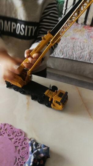 凯迪威 工程汽车模型 1:50合金平板拖车带挖掘机运输车半挂车牵引汽车儿童玩具 男孩 625038 晒单图