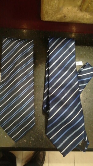 JASONVOGUE男士正装商务领带男 9CM百搭条纹领带结婚礼新郎领带礼盒四件套套装 C7 晒单图