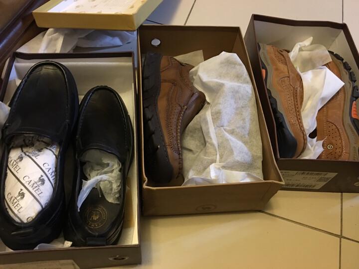 骆驼牌男鞋 舒适便捷套脚休闲耐磨低帮皮鞋 卡其 44 晒单图