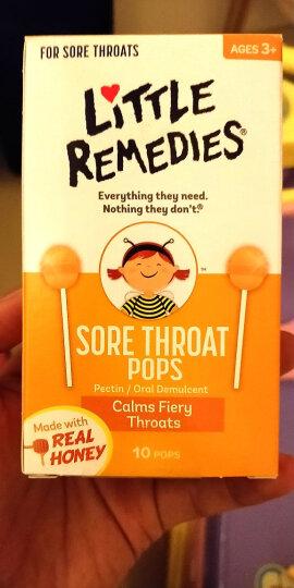美国Little remedies儿童蜂蜜咳止棒棒糖天然顺势蜂蜜止喉痛 10支/盒 2盒 晒单图