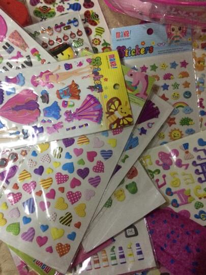 那些花儿儿童卡通泡泡贴纸 立体奖励贴画粘贴泡泡贴粘纸数字字母形状动物换装贴纸 30张特价女孩适合图案 晒单图