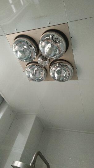 TCL 普通/集成吊顶四灯灯暖型浴霸 取暖照明换气三合一  防水防爆灯泡 集成吊顶-金色 晒单图