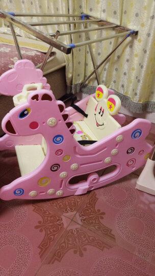 博贝 broad baby儿童摇摇马 益智婴儿两用早教玩具  木马餐椅摇马送故事机送坐垫 王子蓝-送坐垫故事机 晒单图