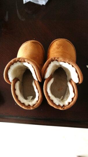 迪士尼(Disney)童鞋 男童女童鞋冬新宝宝鞋幼儿童棉靴休闲靴子小孩雪地靴 XZDH0301深啡 170mm/内长185mm 晒单图