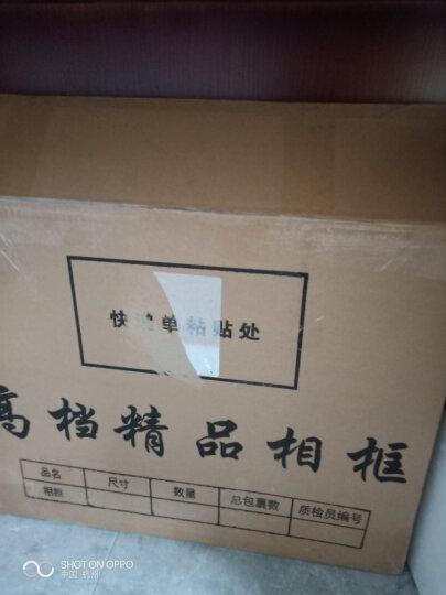 万晶 实木像框挂墙新版营业执照框A3A4相框摆台8K4开画框奖状授权框证书框 可定制 黑色 A4(21*29.7厘米)带支架 晒单图