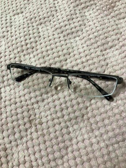 炫飞眼镜架 近视眼镜框架男 配眼镜半框眼睛框配近视度数学生男成品 配非球面镜片2081 框架灰色(送1.56非球面镜片) 晒单图