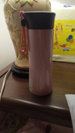 MiGo 不锈钢保温杯男女士便携水杯学生水杯子保温水瓶真空保温杯子 300ml花润粉 晒单图