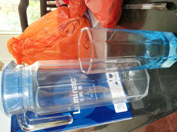 乐美雅(Luminarc)无铅玻璃冷水凉水壶果汁壶套装 八角壶凝彩水具(冰蓝)5件套 晒单图