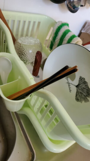 美居客滤水架厨房沥水碗架滴水碗盘架绿色 晒单图