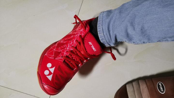 YONEX尤尼克斯羽毛球鞋男女鞋超轻高端鞋yy明星款运动鞋李宗伟同款战靴 男鞋SHBA2MEX 红色 43 晒单图