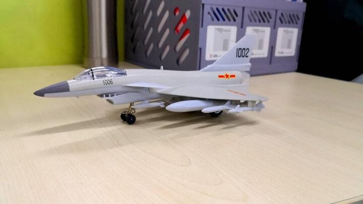 仿真战机战斗机航天飞机轰炸机歼十回力合金飞机模型儿童玩具飞机 歼十五航母舰载战机 晒单图