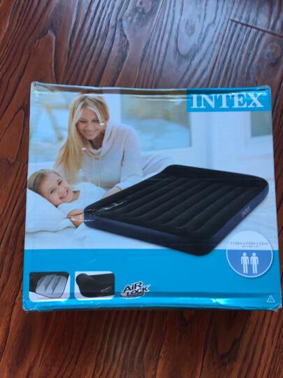 INTEX 内置枕头充气床垫 露营气垫床 折叠床躺椅双人加大152*203*23cm 66769 晒单图