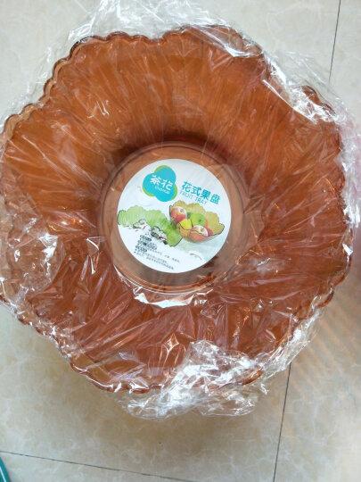 茶花创意果盘塑料水果盘点心盘时尚盘子花式糖果盘零食盘 颜色随机 晒单图