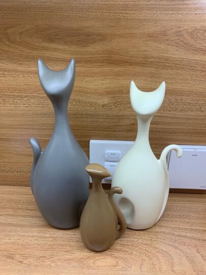 贝汉美(BHM) 创意北欧客厅装饰品摆件工艺品 家用电视柜红酒柜摆件 猫咪(三口之家) 晒单图