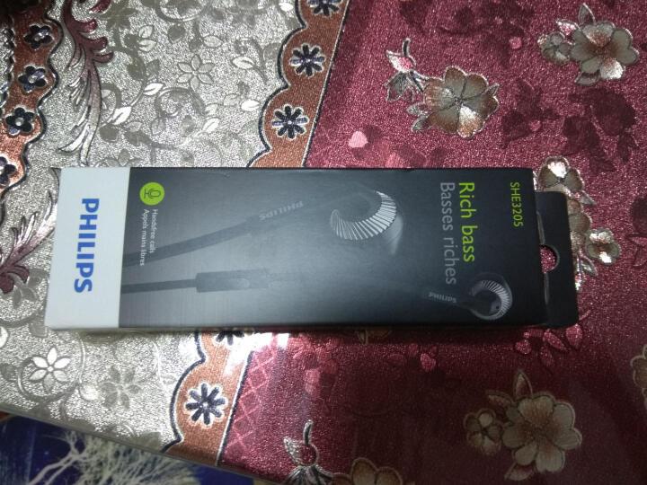 飞利浦(PHILIPS)手机耳机 多色彩匹配 SHE3205(黑) 晒单图